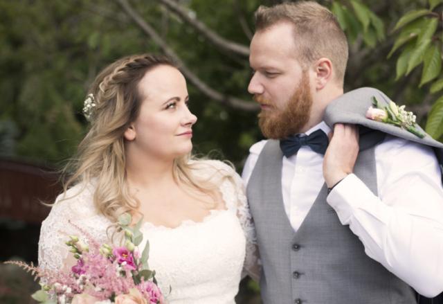 Portrett av brudepar