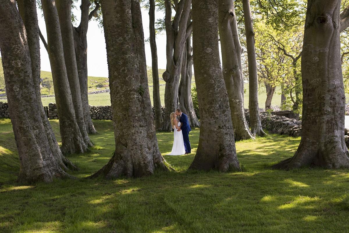 bryllupsportrett i parken