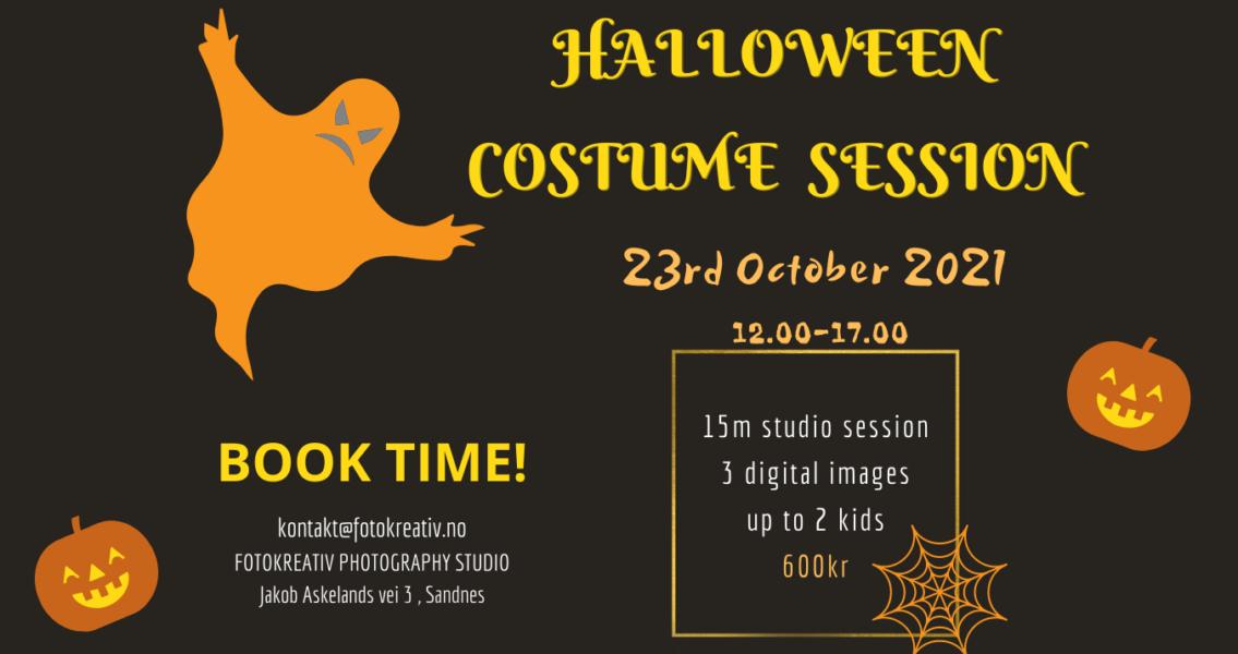Halloween costume photo session